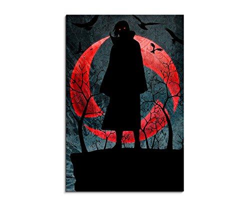 Quadro su tela Naruto _ Itachi Uchiha _ _ 90x 60cm immagine come bella stampa Artistica su vera tela come un murale su telaio
