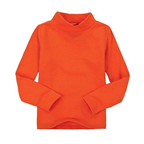 Casa Niños unisex Tops chica niña de manga larga camiseta de algodón cuello alto Tee variedad de colores (tamaño 2-6 años)