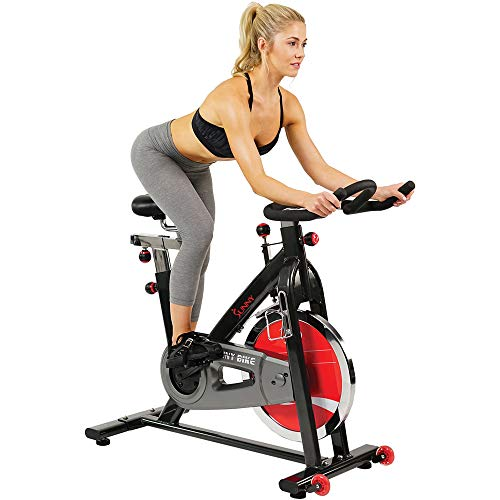 Sunny Health Silent 49 Lb Belt Drive Indoor Cycle Bike