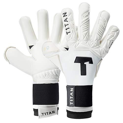 T1TAN Alien White-Out 2.0 Torwarthandschuhe für Erwachsene, Fußballhandschuhe Herren Innennaht und 4mm Profi Grip - Gr. 11