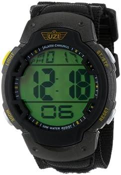 Uzi Men s Uzi-89-N The Guardian Black Nylon Strap Watch