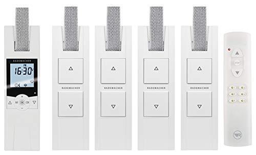 RADEMACHER elektrische Gurtwickler Starterset für 5 Rolläden. Smarte Rolladensteuerung mit Rolladen Gurtwickler (230V) und Handsender.