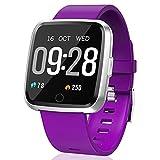 Orologio da polso fitness con fitness tracker, orologio sportivo Bluetooth, contapassi, monitoraggio del sonno, contatore calorie, cardiofrequenzimetro per Android/iOS