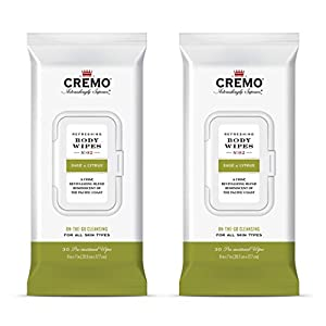 Cremo Refreshing Sage & Citrus Body Wipes, A Revitalizing Combination of Bright Mandarin, Dry Herbs and White cedar, 60… 12