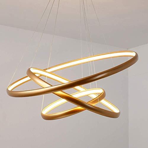 Led-spinnenlicht voor thuis, elegante led-hanglamp, verstelbaar, rond, groot, modern, eettafel met 3 ringen in de woonkamer plafondlamp