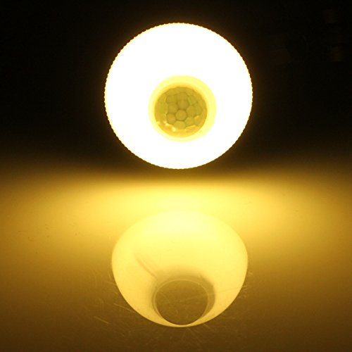 MASUNN B22 LED Lampe 5W SMD 2835 18 Pure White/Warm White Motion Control PIR Sensor Globe Lampe Ac 220V- Warmes Weiß