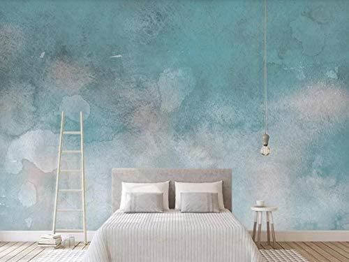 Tapete 3D Wandbild Abstraktes Blaues Aquarell Der Weinlese Fototapete 3D Effekt Vliestapete Wohnzimmer Wanddeko