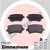 Zimmermann 23914.170.1 Bremsbelagsatz, Hinten, 8 Federn mit Vorbereitung Sensoren, inklusive Zubehör