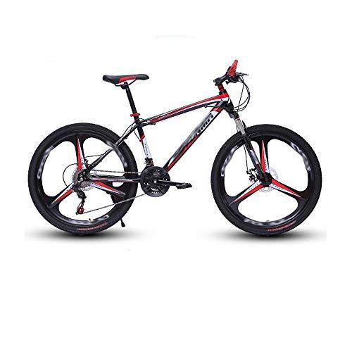 Vélo De Montagne De 24 Pouces Freins à Double Disque Vélos à Vitesse Variable Et Amortisseurs De Chocs Convient à Tous Les Cyclistes,Red