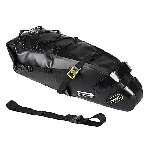 Bikepacking Bag Waterproof Large Capacity Bikepacking Seat Bag Road Mountain Bike Seat Bag Bike Saddle Bag 13L