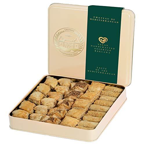 Vegan Baklava Baklawa, 700g, Chateau de Mediterranean, Gift Box with Tin
