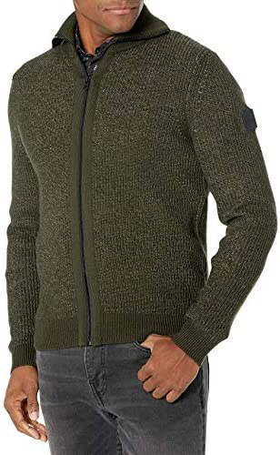 Hugo Boss BOSS Men s Zip Up Sweater Olive Green M product image
