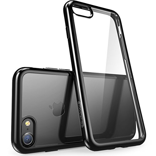 i-Blason iPhone 7 Case, iPhone 8 Case Scratch Resistant Clear Halo Series for Apple iPhone 7 Cover/Apple iPhone 8 Cover(Clear/Black)