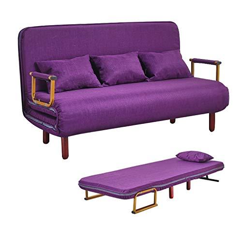 YUYTIN Sillas Convertibles en Camas, sofá Cama Individual Durmiente Plegable con Almohada, Respaldo de 6 Posiciones, sofá Cama Moderno para Dormitorio de Sala de Estar,A,150cm