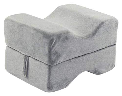 TTBT para la Almohada de la Pierna del Dormir, la Almohada de la Pierna Premium de la Rodilla de la Rodilla 1226 (Color : Grey, Size : 30x20.2x19cm)
