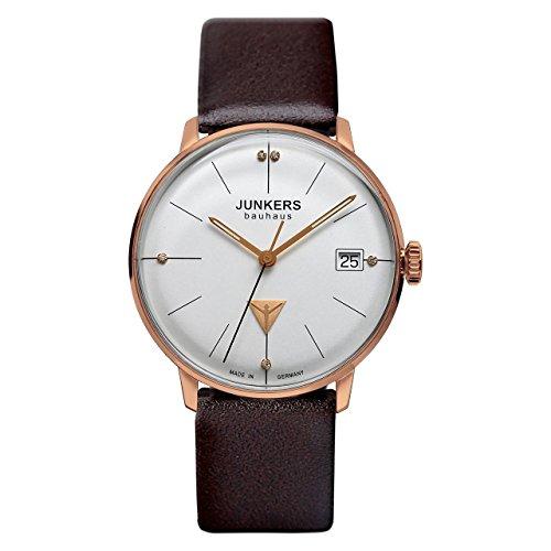 Junkers Damen Analog Quarz Uhr mit Leder Armband 60751