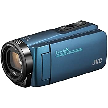 JVCKENWOOD JVC ビデオカメラ Everio R 防水 防塵 32GB内蔵メモリー ネイビーブルー GZ-R480-A