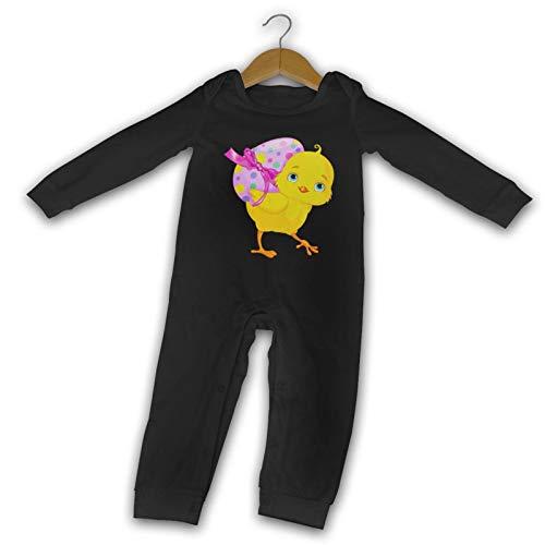 WushXiao Baby Crawler Osterküken lang Komfort schwarz Gr. 12 Monate, Schwarz