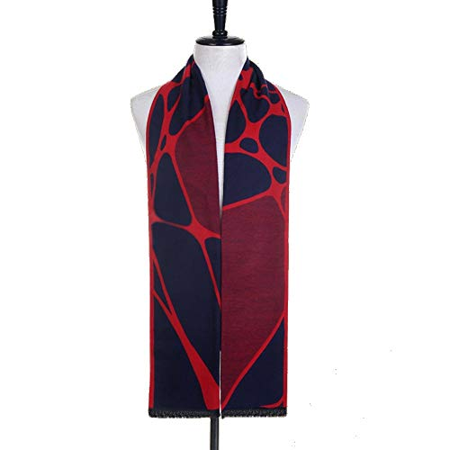 LCSD bufandas Modelo negro rojo del otoño y del invierno de Corea de los hombres de la bufanda de la cachemira imitación del color mezclado Jacquard japonesa salvaje Estudiante regalo bufanda caliente