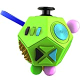 Fidget Dodecagon –12-Side Fidget Cube Relieves Stress and Anxiety Anti depression cube for Children and Adults with Autism (B1 Green)