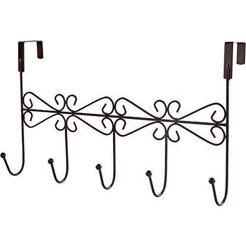 Mjkl 2 ganchos diseñados para decorar el perchero de metal para el baño familiar con una percha en la puerta, toallero de baño, armario para colgar artículos de almacenamiento
