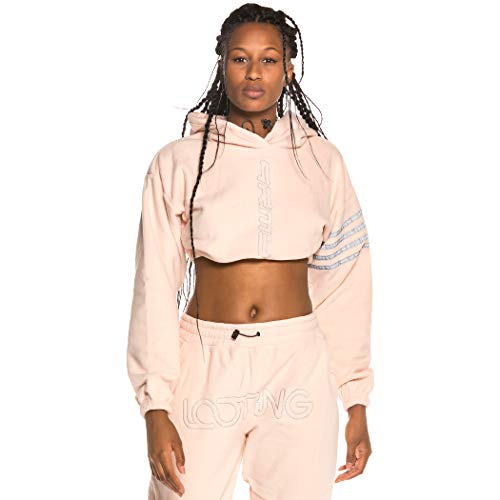 GRIMEY Sudadera Chica Sighting in Vostok Polar Fleece Crop Hoodie FW19 Pink-S
