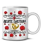 Golebros Beste Ehefrau 6241 Tasse Becher Kaffee Frau Valentins Idee Pärchen Partner Geburtstags Hochzeitstag Jahrestag Paare Kaffeebecher kaffeetasse
