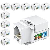 Greluma 10 Piezas Conector Keystone Cat6, Conector de Pared Ethernet, Acoplador de Red Cat6 - Compatible con Cat5 / 5e / 6