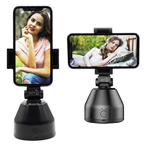 Face Tracking,360°Rotation Auto Face Object Tracking Phone Holder,Following Shooting Gimbal Robot Cameraman,Smart Phone Camera Tracking Selfie Stick,Vlog Shooting Smartphone Mount