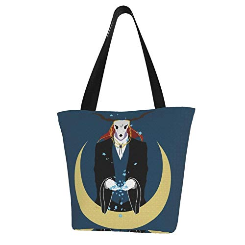 The Ancient Magus 'Bride Totes Carry Bag Damen Schultertaschen Big Capacity Shopping Bag Canvas Handtaschen Casual Ladies for Shopping