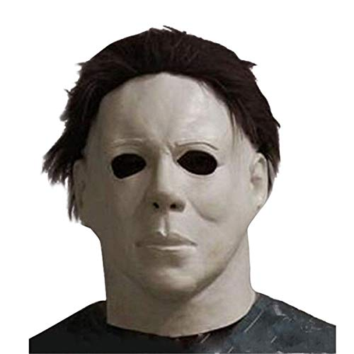 Michael Myers Mask Latex Full Head Halloween Deluxe Adult Size Fancy Dress Masks Black