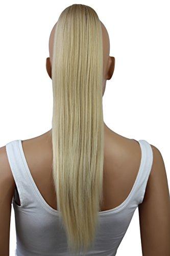 PRETTYSHOP 50cm Haarteil Zopf Pferdeschwanz Haarverlängerung Glatt Blond Mix H55