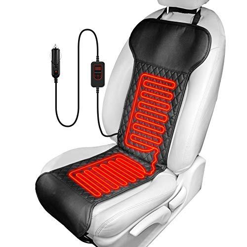 Calentador De Asiento De Coche 12v con controlador de temperatura inteligente Almohadilla calefactada para asiento de automóvil para camión, hogar, oficina
