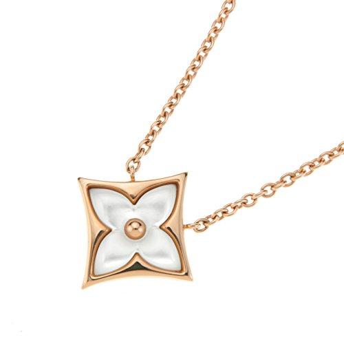 ルイヴィトン(Louis Vuitton) ネックレス Q93521 モノグラム ピンクゴールド/ホワイト [並行輸入品]