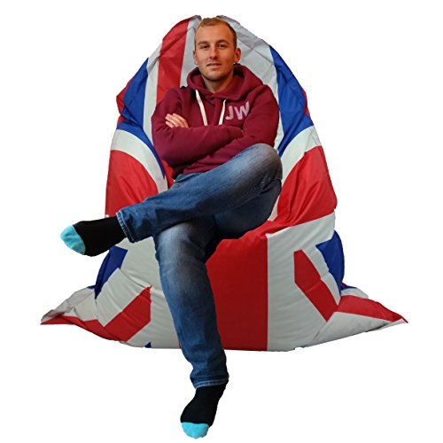 Home and Garden Products Large Bean Bag Giant indoor/Outdoor Beanbag XXXL Union jack Waterproof Cushion