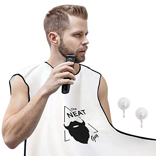 The Neat Guy Beard Apron/Bib for Mess-Free Shaving, What you Need for a Good, Clean Shave, The Perfect Father's Day Gift