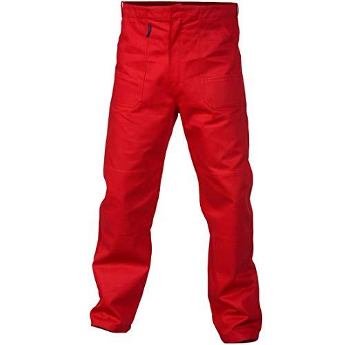 Charlie Barato® Arbeitshose Herren - waschfeste Bundhose rot (54)