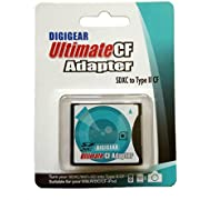 Digigear SDXCF SD SDHC SDXC to CF Type II Extreme/Ultimate Compact Flash Card Adapter, Note Not for CF Type One Slot