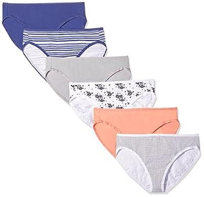 Amazon Essentials Women's Cotton Stretch Hi-Cut Brief Panty, Fashion Assorted, X-Small