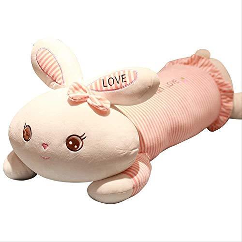 Leileixiao Juguetes suaves, 50 cm de peluche de conejo rosa gigante de peluche de conejo de dibujos animados para decoración de regalo de niña