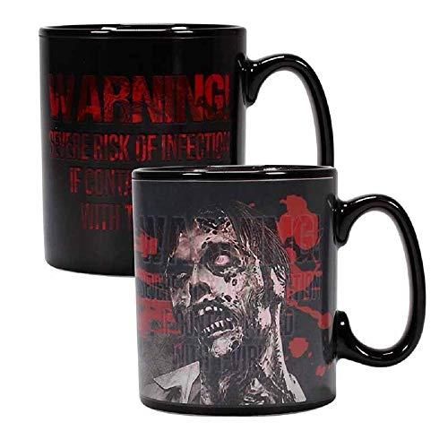 Resident Evil - Tasse Thermoeffekt Kaffeebecher - Zombie + Logo - Geschenkbox