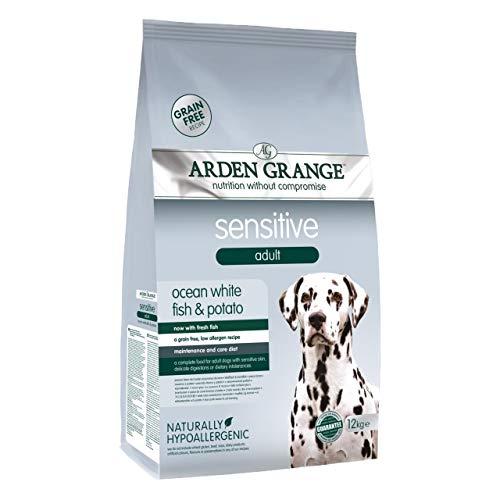 Arden Grange Sensitive Adult Dry Dog Food Grain Free, Fresh Ocean White Fish and Potato, 12 kg