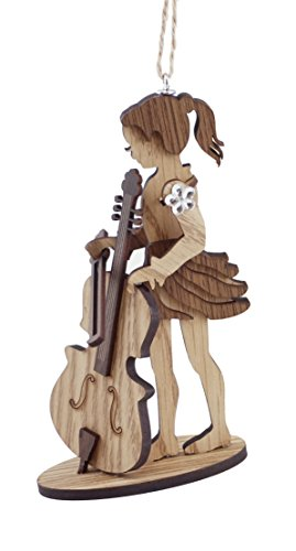 Caffco Little Girl Cello Player Hanging Christmas Ornament