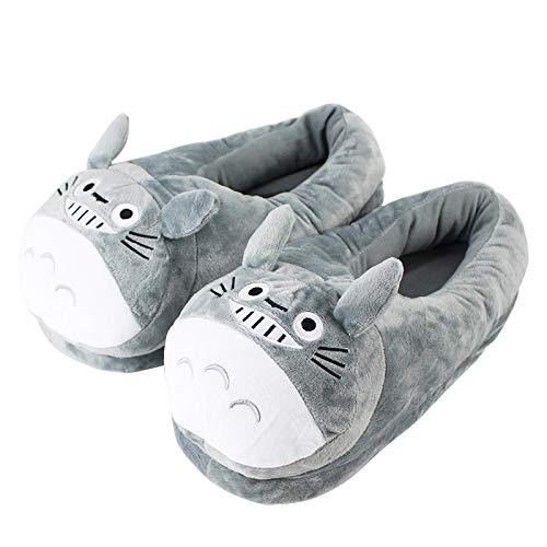 agzhu Mein Nachbar Totoro Plüsch Hausschuhe 28cm, Anime Soft Stuffed Indoor Schuhe Winter Warm für Jugendliche