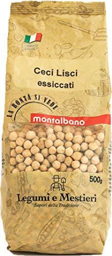 Montalbano Ceci Lisci Italiani - 6 Buste da 500 g, Totale: 3 kg