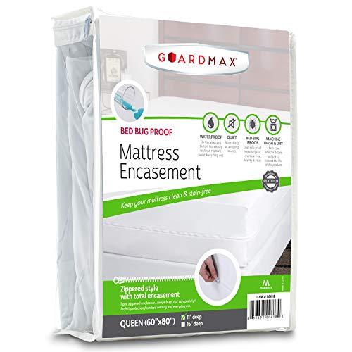 Guardmax - Bedbug Proof/Waterproof Mattress Protector Cover - Queen Size (60