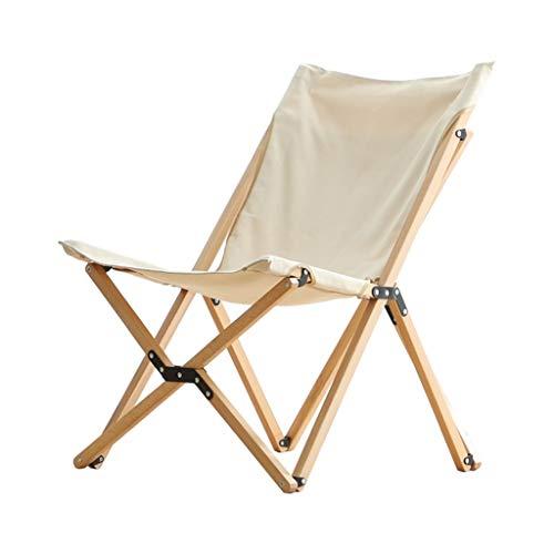 LCHAIR Chaise Pliante en Bois, Confortable Tabouret Portable Ergonomie Chaise Papillon for Accueil Jardin Balcon