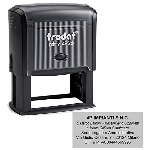 Timbro Autoinchiostrante Trodat Printy 4926 Personalizzato mm 75X38 Completo di Personalizzazione - Timbro di Grandi Dimensioni