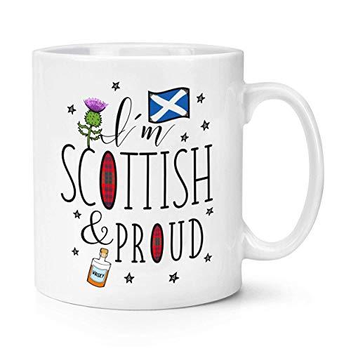 Taza con la bandera de Escocia, diseño con texto en inglés 'I'm Scottish and Proud'