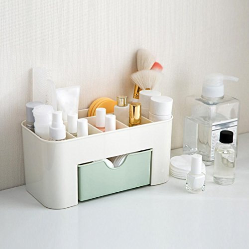 Arpoador Einsparung Space Desktop Kosmetik Make-up Speicher Schublade Typ Box (Grün)